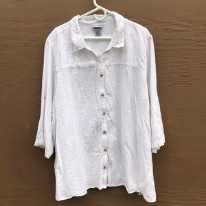 Catherine's linen button down top